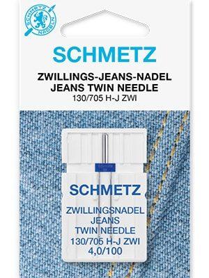 Двойные иглы для джинсовых тканей Twin jeans