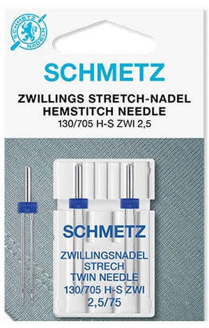 Иглы schmetz twin stretch 2.5/75