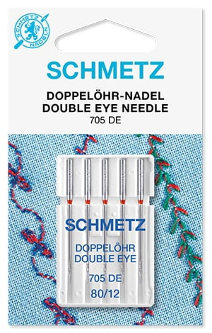 Иглы schmetz double eye 5x80