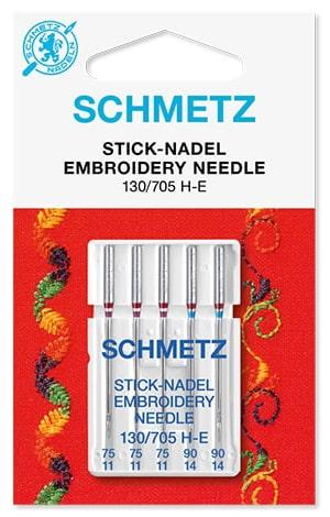 Голки Schmetz Embroidery 3x75, 2x90