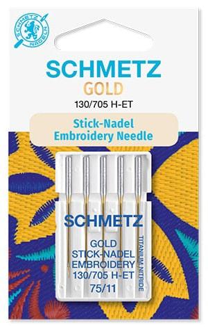 Голки schmetz gold embroidery 5x75