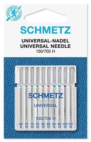 Иглы schmetz universal 1x60 3x70 2x80 2x90 1x100 1x110