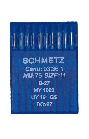 иглы для оверлока schmetz b-27 №75