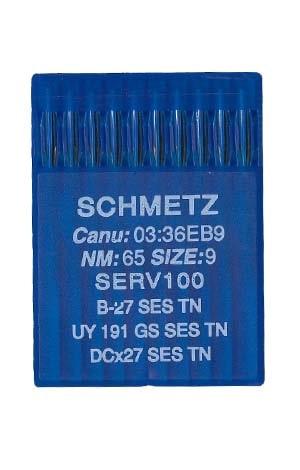 иглы для оверлока schmetz b-27 ses tn №65