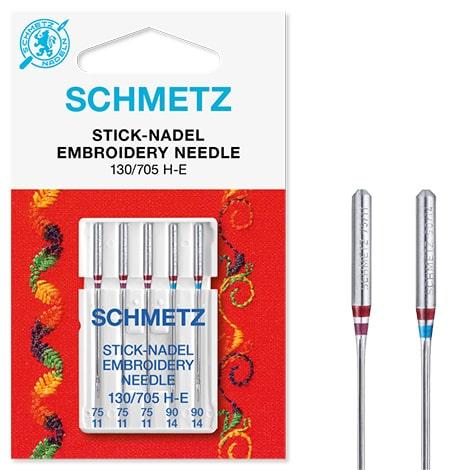 Schmetz Embroidery 3x75, 2x90