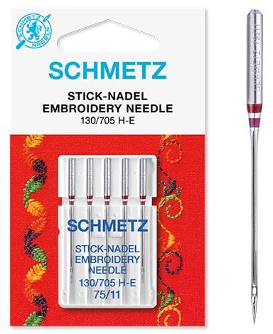 Schmetz Embroidery 5x75