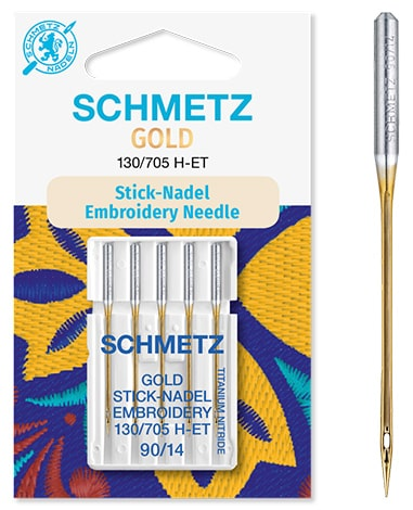 schmetz gold embroidery 5x90