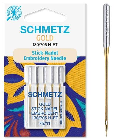 schmetz gold embroidery 5x75