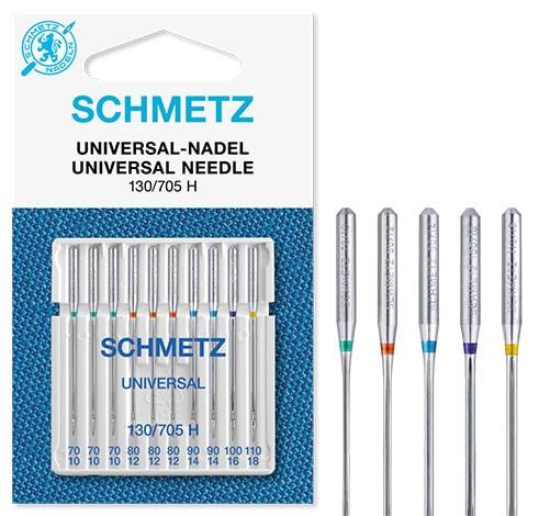 schmetz universal 3x70 3x80 2x90 1x100 1x110