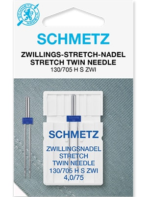 Двойные иглы для эластичных тканей Twin stretch